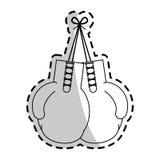 imagen del icono de los guantes de boxeo ilustración del vector