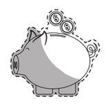 imagen del icono del dinero de hucha libre illustration