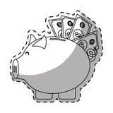 imagen del icono del dinero de hucha ilustración del vector