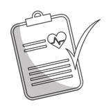 Imagen del icono del historial médico Imagen de archivo libre de regalías