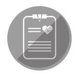 Imagen del icono del historial médico Foto de archivo libre de regalías
