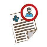 Imagen del icono del historial médico Imágenes de archivo libres de regalías