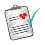 Imagen del icono del historial médico Fotografía de archivo libre de regalías