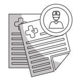 Imagen del icono del historial médico Foto de archivo