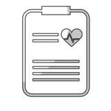 Imagen del icono del historial médico Imagenes de archivo