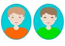 Imagen del icono del muchacho Fotografía de archivo libre de regalías