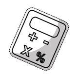 Imagen del icono del pictograma de la calculadora Fotos de archivo libres de regalías