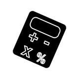 Imagen del icono del pictograma de la calculadora Fotografía de archivo libre de regalías