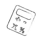 Imagen del icono del pictograma de la calculadora Imagenes de archivo