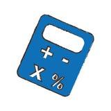 Imagen del icono del pictograma de la calculadora Foto de archivo