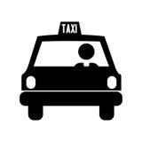 Imagen del icono del pictograma del taxi stock de ilustración