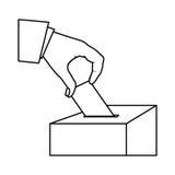 imagen del icono del voto de la gente Foto de archivo