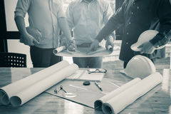 Imagen del ingeniero arquitectónico del proyecto Imagen de archivo