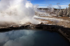 Imagen del invierno en el parque nacional de Yellowstone Imagen de archivo