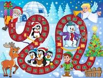 Imagen del juego de mesa con el tema 1 de la Navidad ilustración del vector