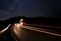 Imagen del lapso de tiempo de las estrellas de la noche Imágenes de archivo libres de regalías