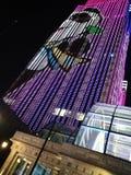 Imagen del LED en el edificio en Shangai fotografía de archivo