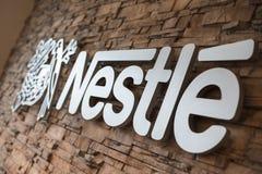 Imagen del logotipo de Nestle Fotos de archivo