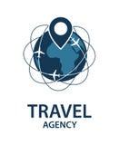 Imagen del logotipo del viaje Fotografía de archivo