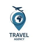 Imagen del logotipo del viaje Imágenes de archivo libres de regalías