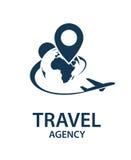 Imagen del logotipo del viaje Imagenes de archivo