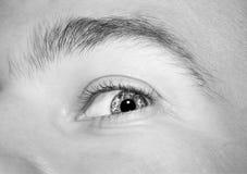 Imagen del ojo azul del ` s del hombre Fotos de archivo