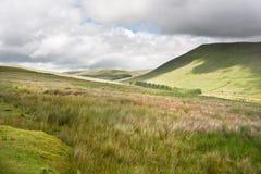 Imagen del paisaje del campo a las montañas Foto de archivo libre de regalías