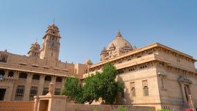 Imagen del palacio de Umaid Bhawan afuera, tiro en Jodhpur imagenes de archivo