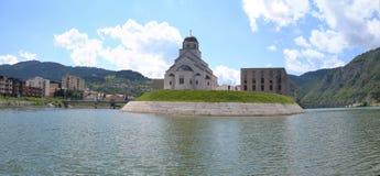 Imagen del panorama del egrad del ¡de ViÅ, Bosnia y Hercegovina Imagen de archivo libre de regalías