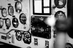Imagen del primer de la carlinga del aeroplano fotografía de archivo libre de regalías