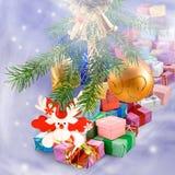 Imagen del primer de la tarjeta de Navidad Fotos de archivo