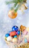 Imagen del primer de la tarjeta de Navidad Fotos de archivo libres de regalías