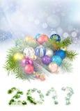 Imagen del primer de la tarjeta de Navidad Imagen de archivo libre de regalías