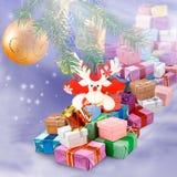 Imagen del primer de la tarjeta de Navidad Foto de archivo libre de regalías