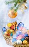 Imagen del primer de la tarjeta de Navidad Fotografía de archivo libre de regalías