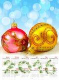 Imagen del primer de las decoraciones de la Navidad Fotos de archivo