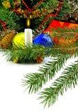 Imagen del primer de las decoraciones de la Navidad Foto de archivo libre de regalías