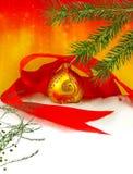 Imagen del primer de las decoraciones de la Navidad Fotos de archivo libres de regalías