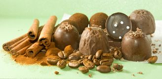 imagen del primer de los chocolates Fotos de archivo libres de regalías