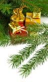 Imagen del primer de los regalos de la Navidad Imagen de archivo