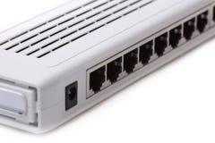 Imagen del primer de un interruptor de red Imagen de archivo libre de regalías