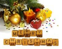 imagen del primer hermoso de la tarjeta de Navidad Fotos de archivo