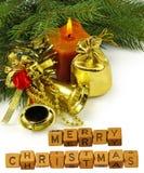imagen del primer hermoso de la tarjeta de Navidad Foto de archivo
