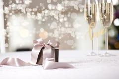 Imagen del regalo de lujo del Año Nuevo Foto de archivo