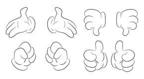 Imagen del sistema humano del gesto de mano de la historieta Ilustración del vector aislada en el fondo blanco ilustración del vector
