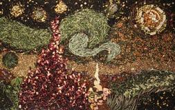 Imagen del té basada en Van Gogh - noche estrellada Fotografía de archivo libre de regalías