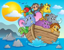 Imagen 2 del tema de la arca de Noahs Imagen de archivo libre de regalías
