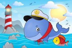 Imagen 3 del tema de la ballena del marinero Imagen de archivo libre de regalías
