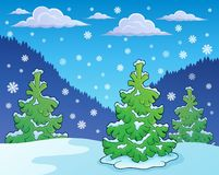 Imagen 1 del tema de la estación del invierno Imagenes de archivo