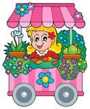 Imagen 1 del tema de la floristería Imagen de archivo